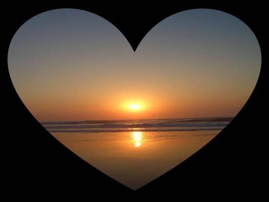 Foto coração de Sol