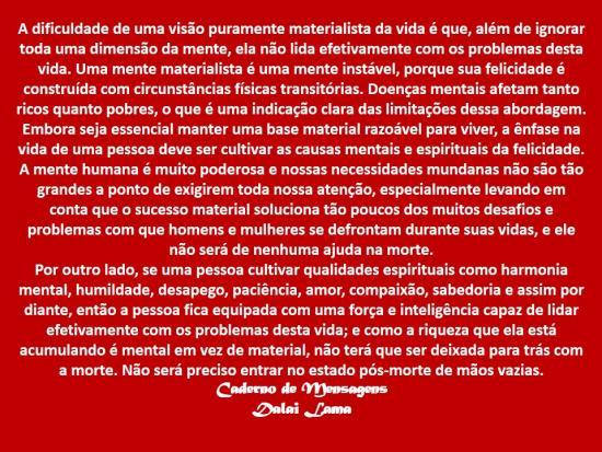 Uma Mente Materialista é uma mente Instável